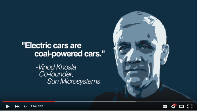 "Figure 5: Back in 2011 Vinod Khosla actually said that ""Electric cars are coal-powered cars"". But he was wrong then, and his quote is even further from the truth today."